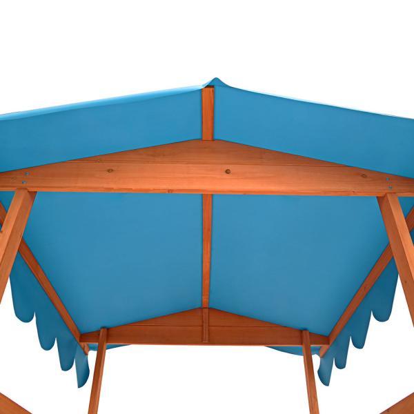sandkasten mit spielveranda spielhaus veranda. Black Bedroom Furniture Sets. Home Design Ideas