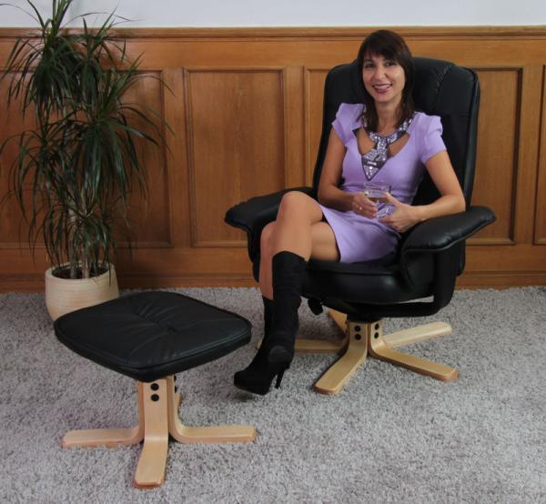 relaxsessel fernsehsessel sessel mit hocker m56 kunstleder. Black Bedroom Furniture Sets. Home Design Ideas