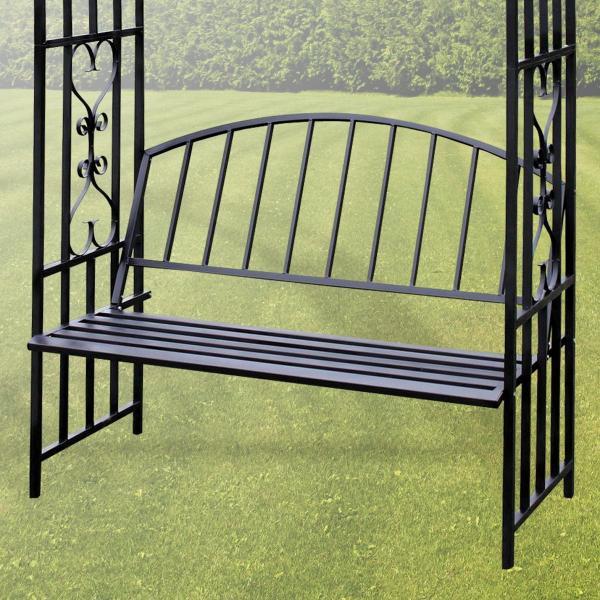 rosenbogen turin mit gartenbank. Black Bedroom Furniture Sets. Home Design Ideas